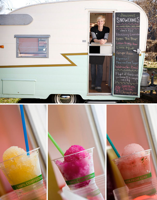 sno cone vintage trailer rental wedding