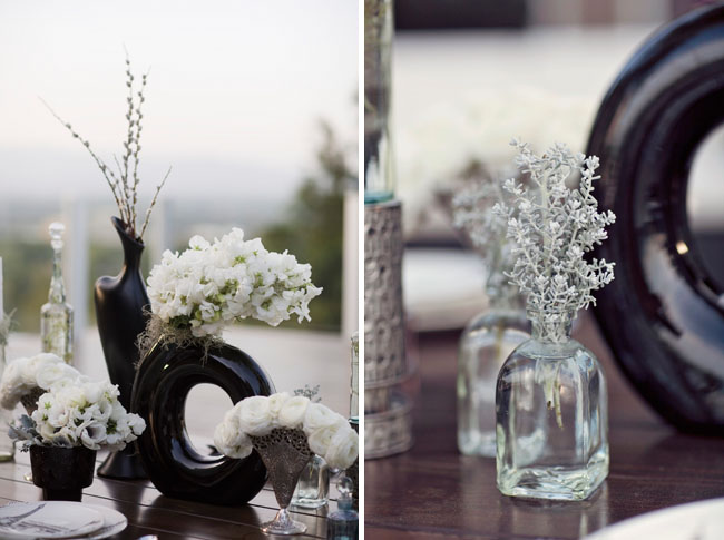 vintage vases with flowers