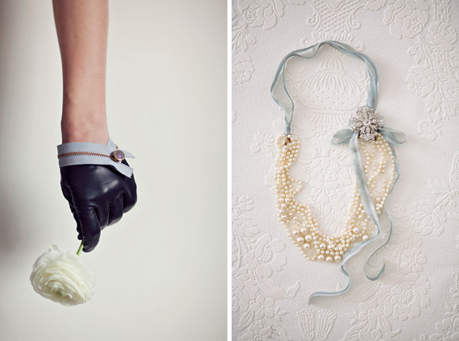 wedding necklace and gloves diy