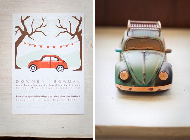 vw bug wedding invitation