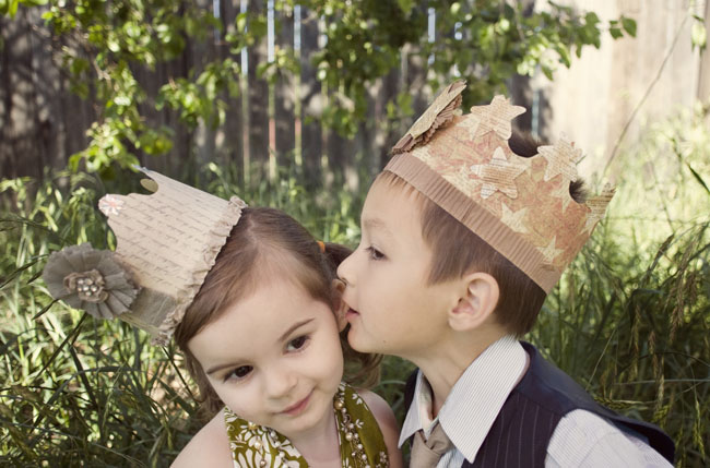 kids with crowns