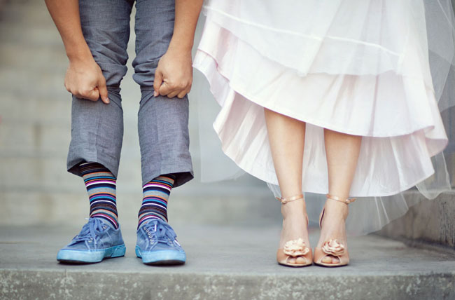 wedding shoes fun socks for groom