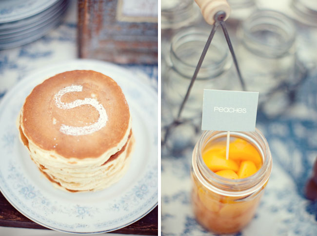 pancakes and fruit wedding