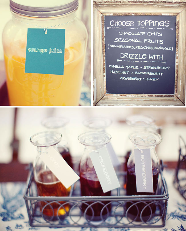 chalkboard and syrup wedding