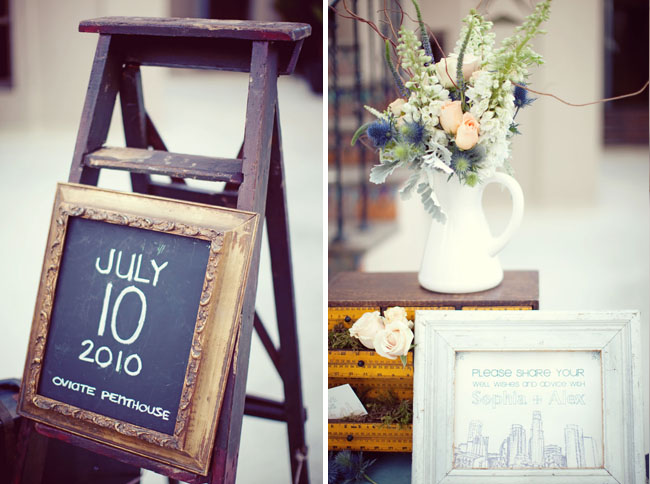 chalkboard wedding decor