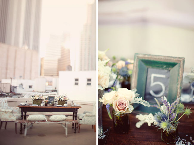 los angeles downtown rooftop wedding