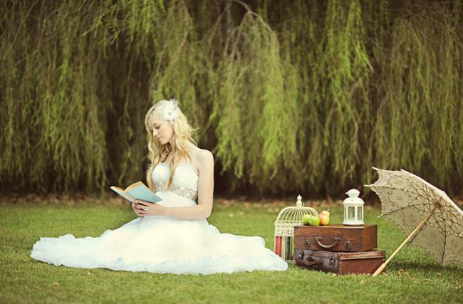 wedding dress picnic