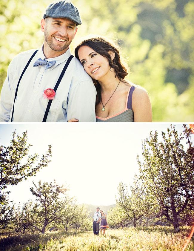 cherry fields engagement photos