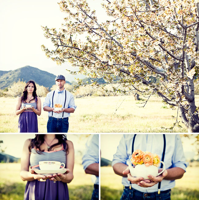 cherry fields engagement photos tea party