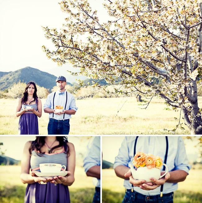 cherry fields engagement photos tea party