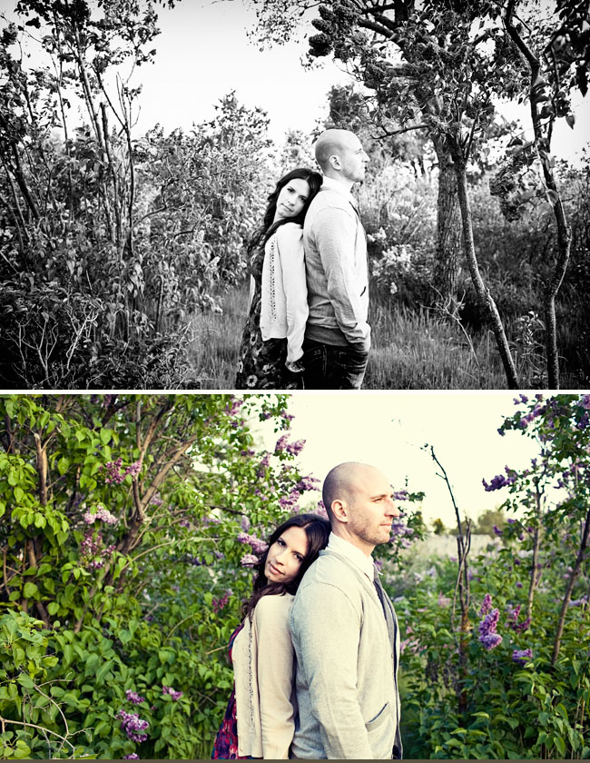 engagement photos lilacs