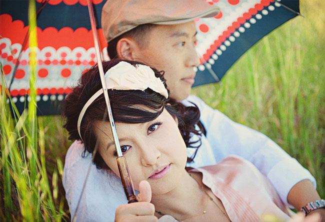 engagement with umbrella
