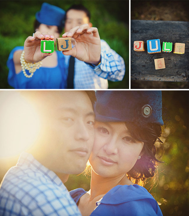blocks with wedding date