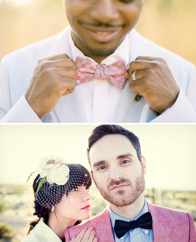 fun bowties for the groom