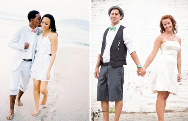 beach weddings bow ties