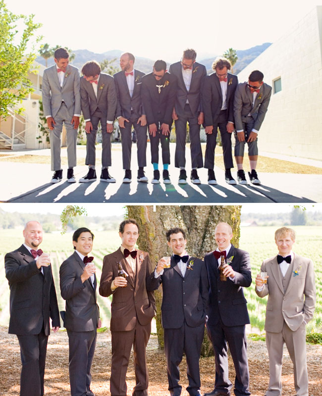 groomsmen fun bow ties