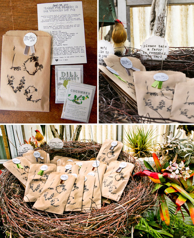 wedding favors seeds love bags