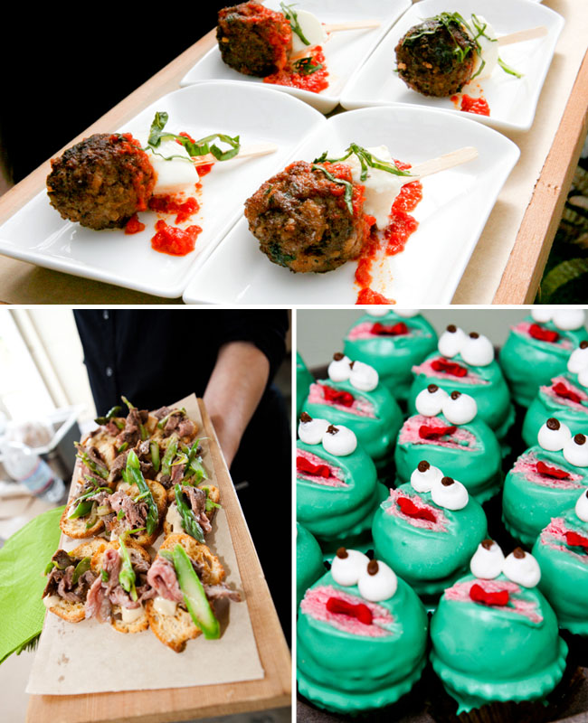 wedding fun and frog cupcakes