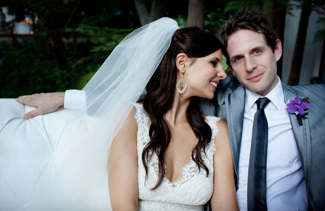 Jill Latiano and Glenn Howerton on their wedding day