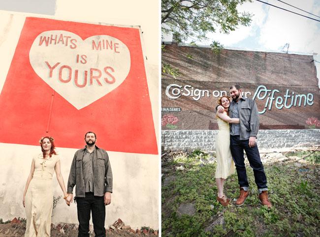 philadelphia murals engagement photos