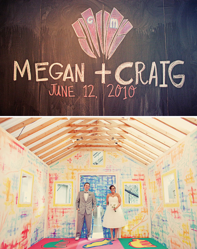 museum wedding chalkboard