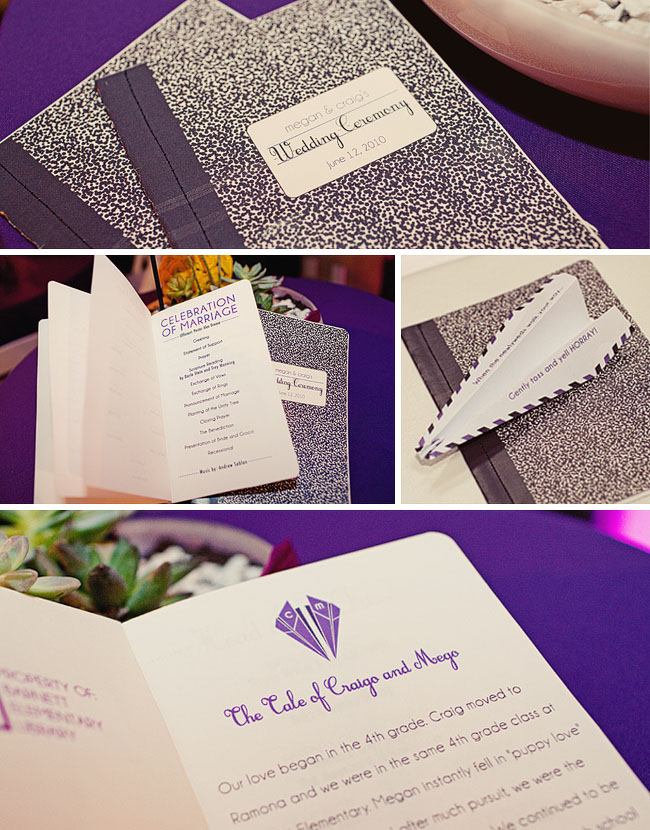 school theme wedding invites
