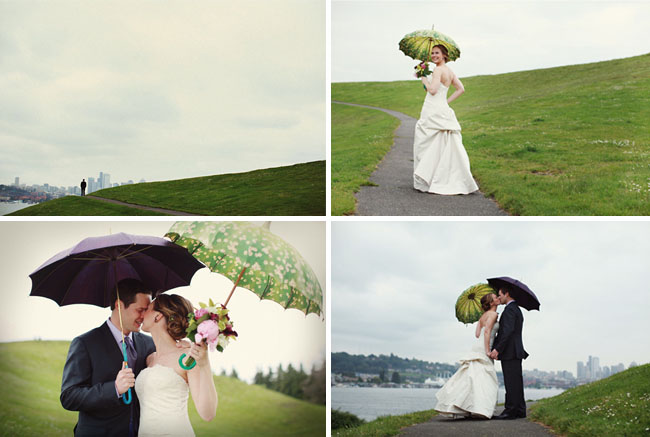 rainy wedding with bella umbrellas