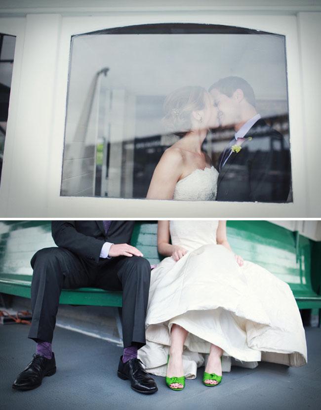 green wedding shoes ferry wedding