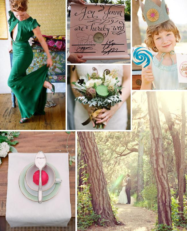 woods wedding shrek whimsical