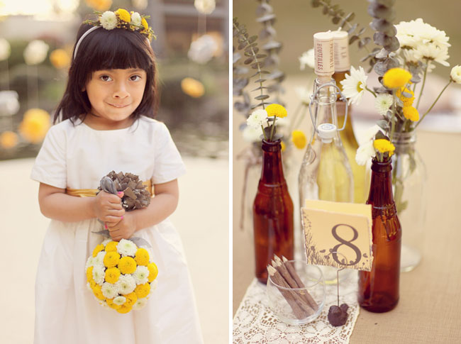 flower girl and eco chic decor