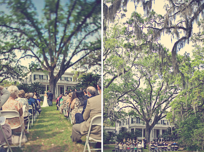 southern outdoor wedding ceremony