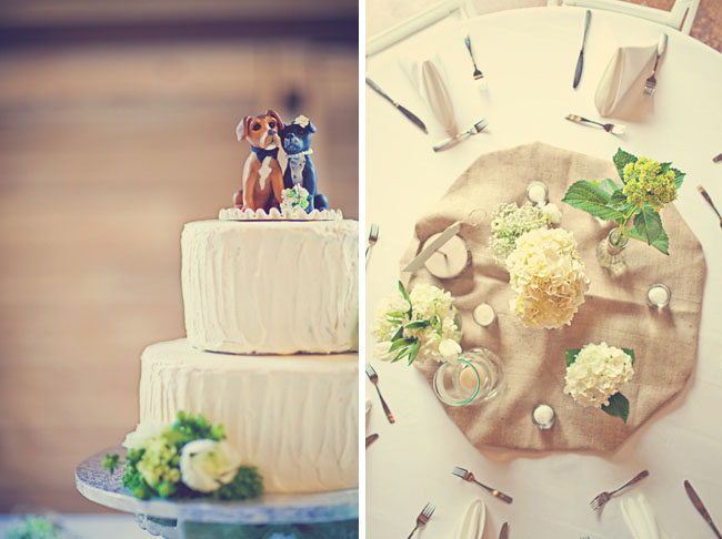 wedding cake and decor