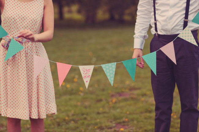 bunting wedding photos