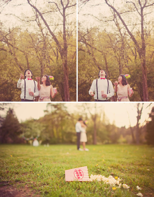 popcorn engagement photos
