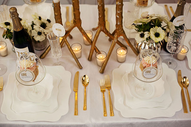 modern white wedding design