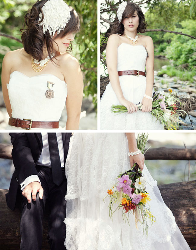 bride with belt
