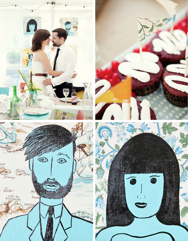 wedding painted portraits