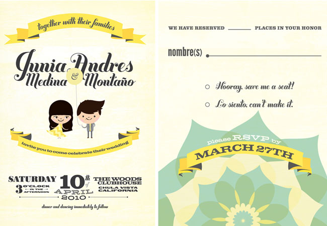 fun wedding invitations + save the dates | green wedding shoes, Wedding invitations