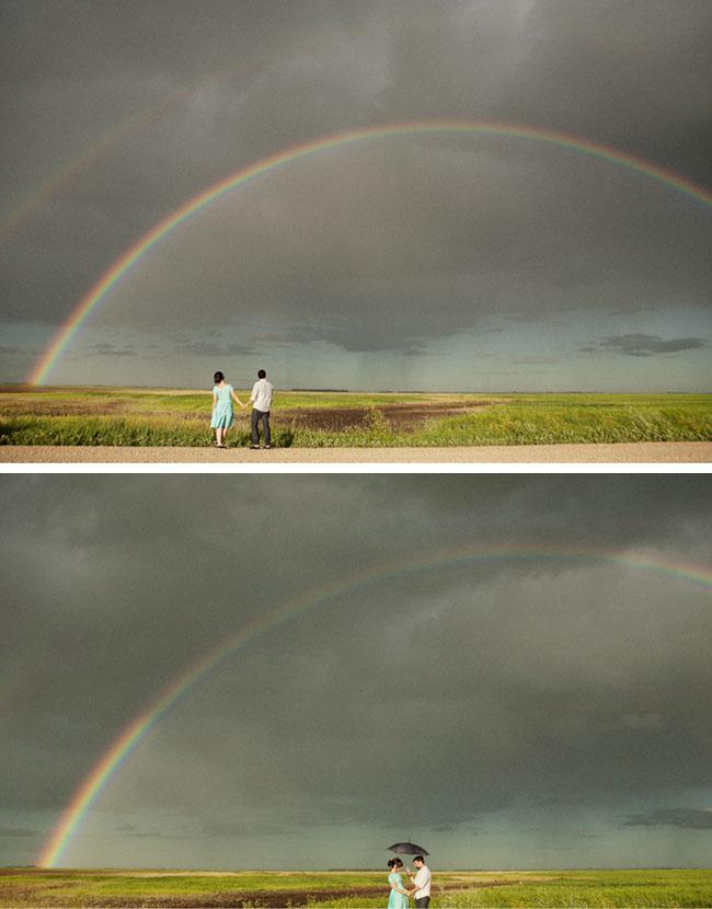 double rainbow couple love