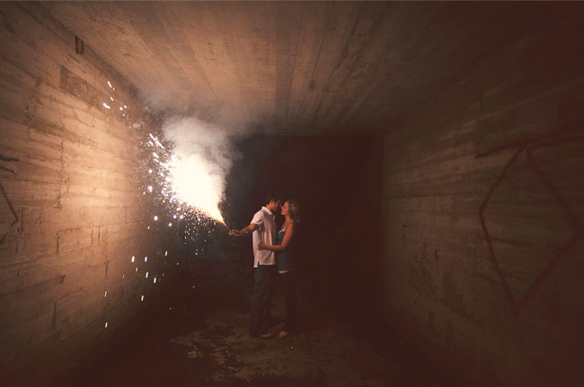 fireworks engagement photos