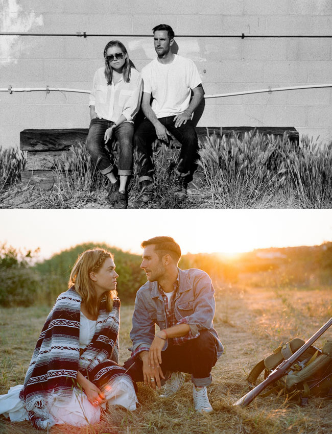 hip modern engagement photos