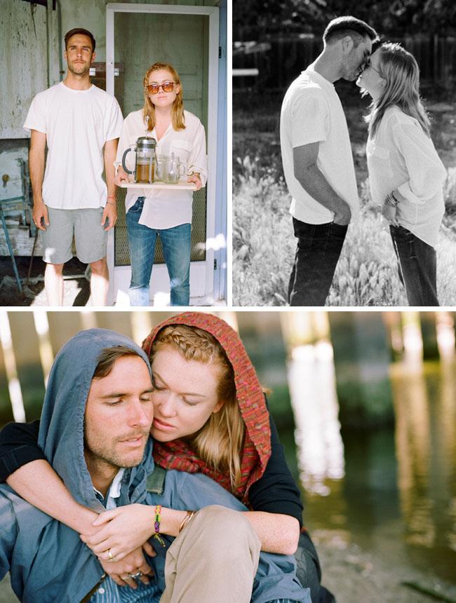 hip modern engagement photos