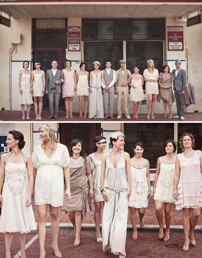 Vintage Bridal Party Inspired Wedding Gown