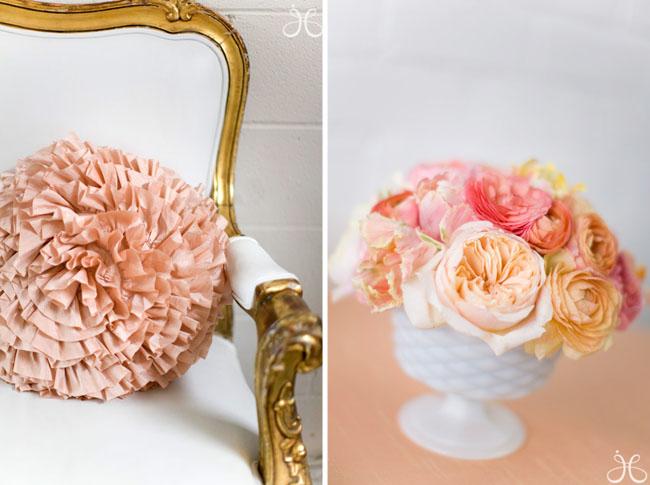 pink flowers bridal shower