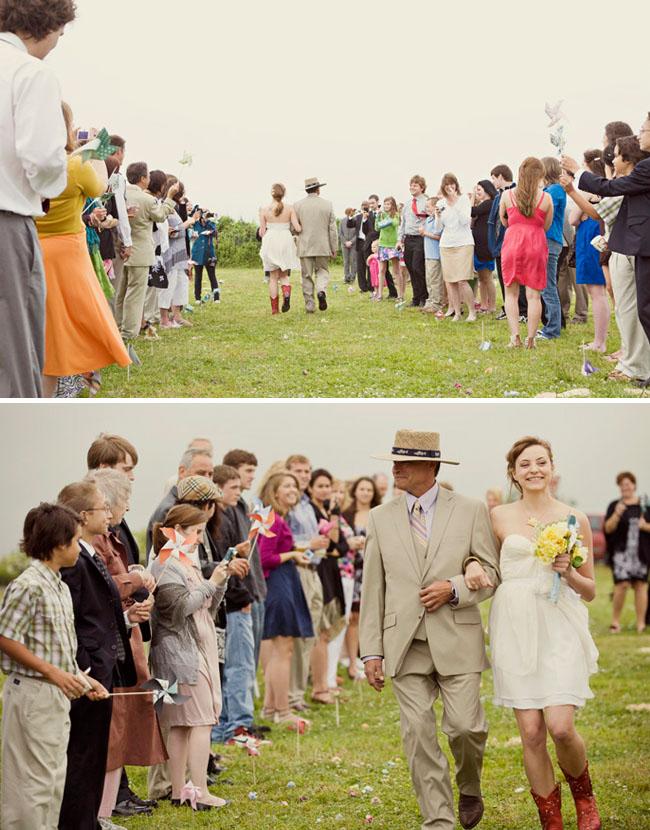 wedding with pinwheels
