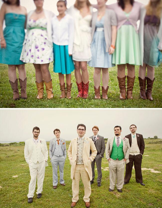 bridesmaids cowboy boots