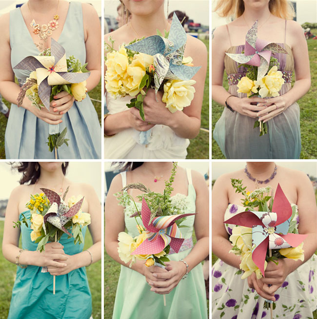 pinwheel bouquets for your wedding