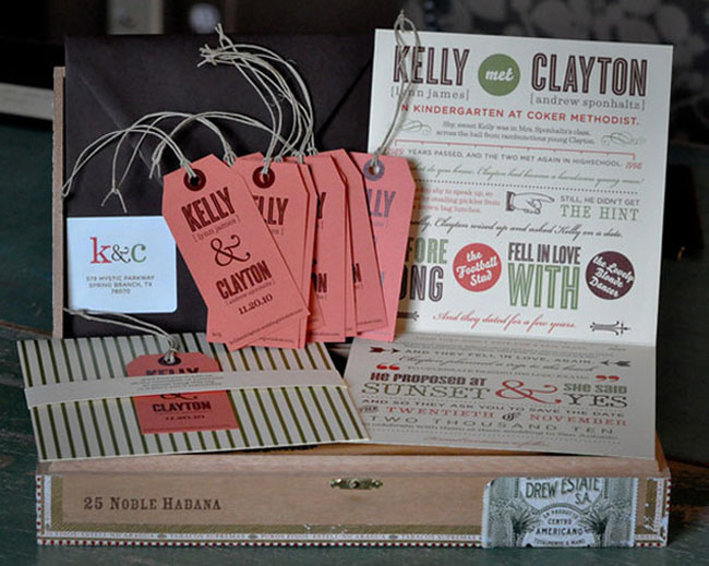 save the date invites with cool typography