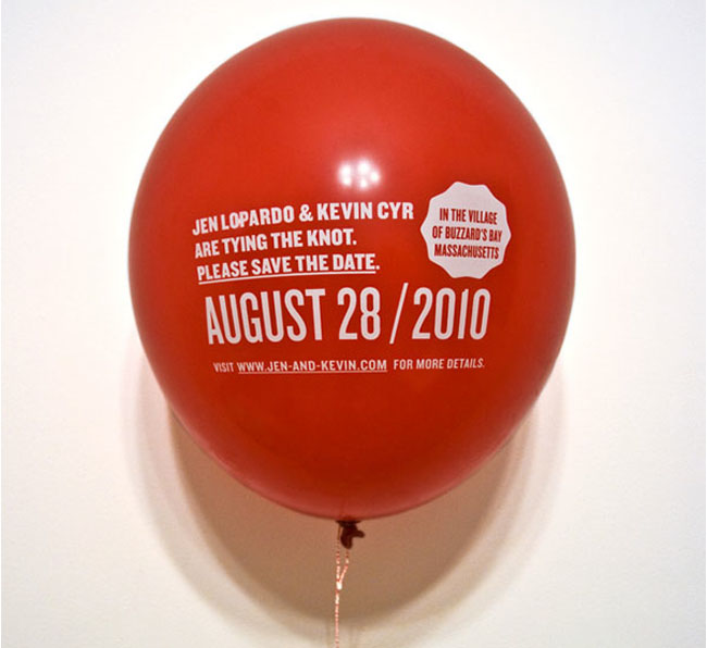 save the date invites with balloon