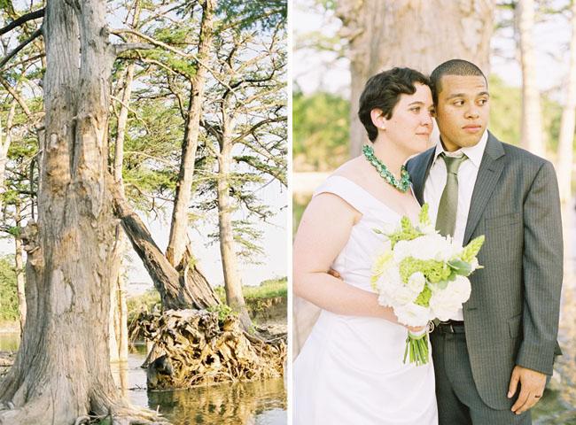 wedding near a swamp
